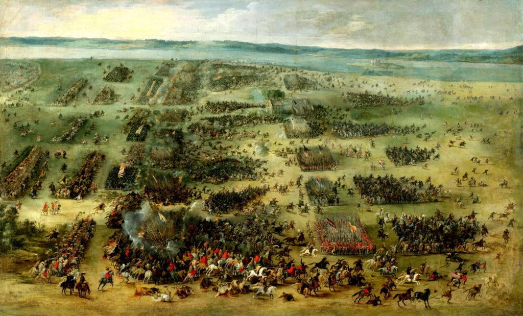 Slaget vid Kirkholm, målning av Peter Snayer 1630.