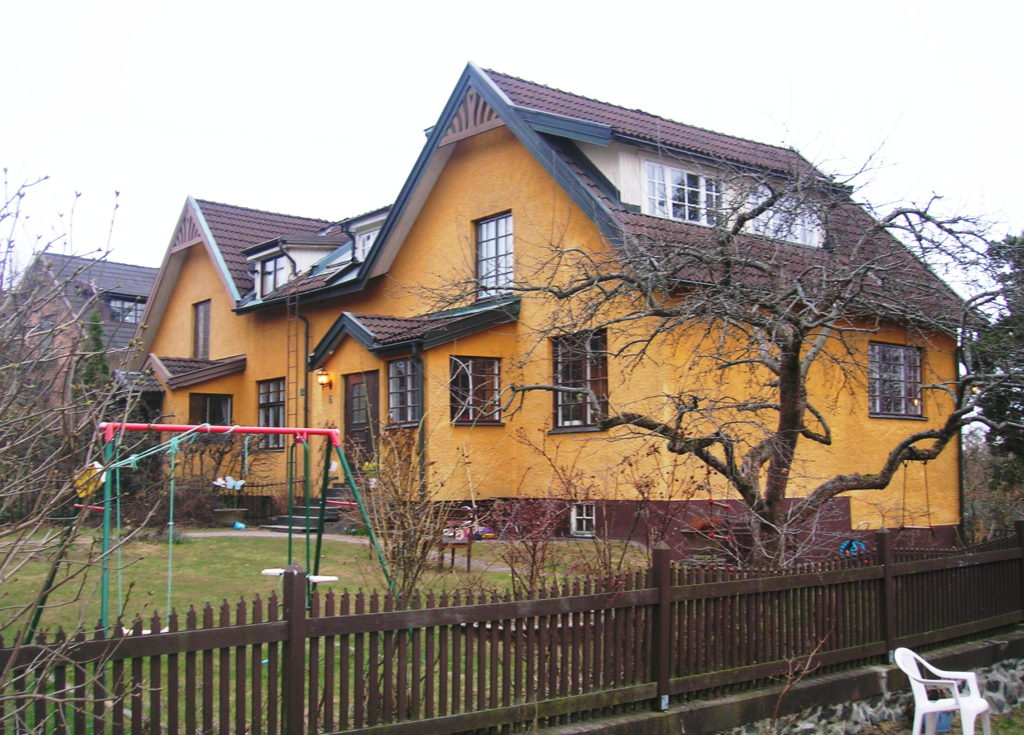 Sekelskiftesvillor i Enskede Gård, ritade av Rudolf Arborelius.