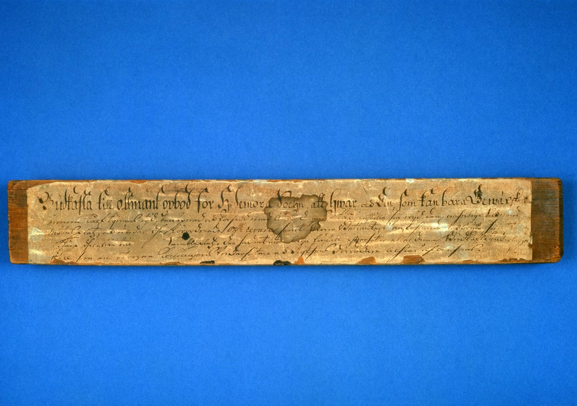 Budkavle från Hedemora 1743
