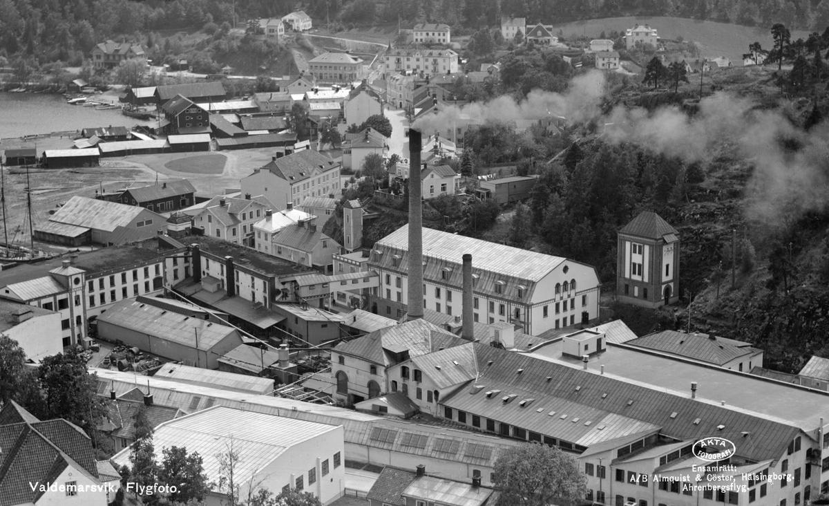Lundbergs läderfabrik i Valdemarsvik 1933