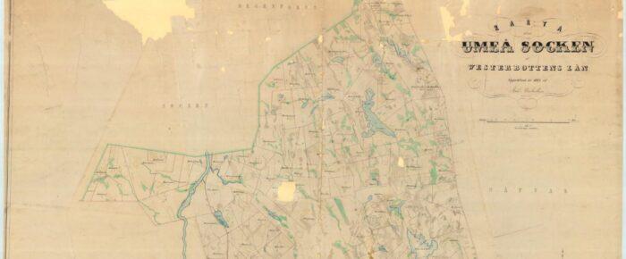 Umeå – en jättesocken i norr blir till flera nya