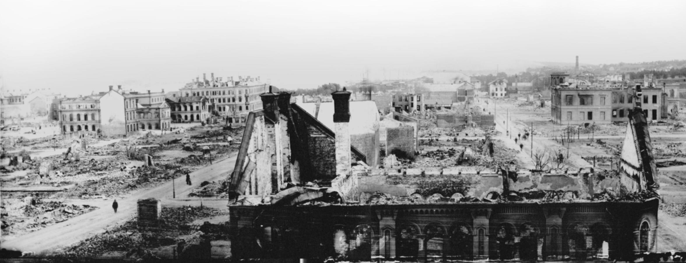 Sundsvall efter branden 1888