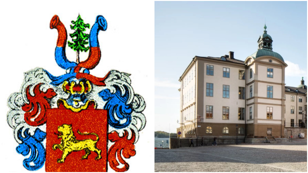 Ätten Graans vapen till vänster, Svea hovrätt till höger