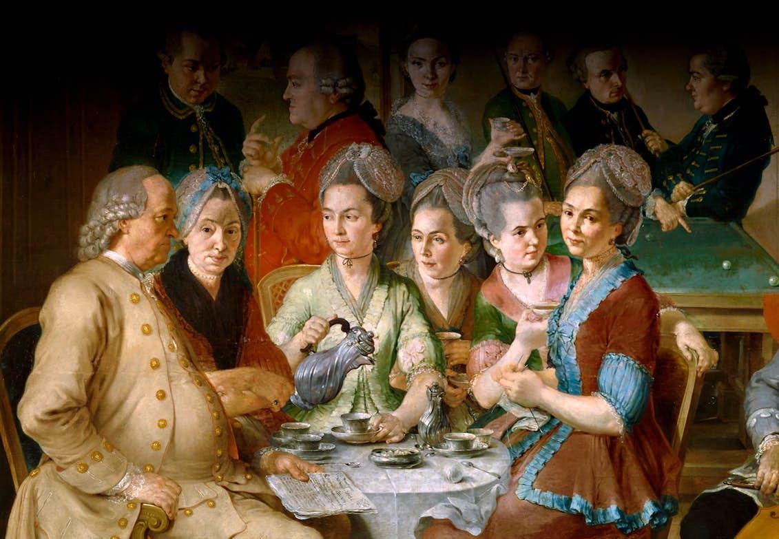 Kaffedrickare på 1770-talet