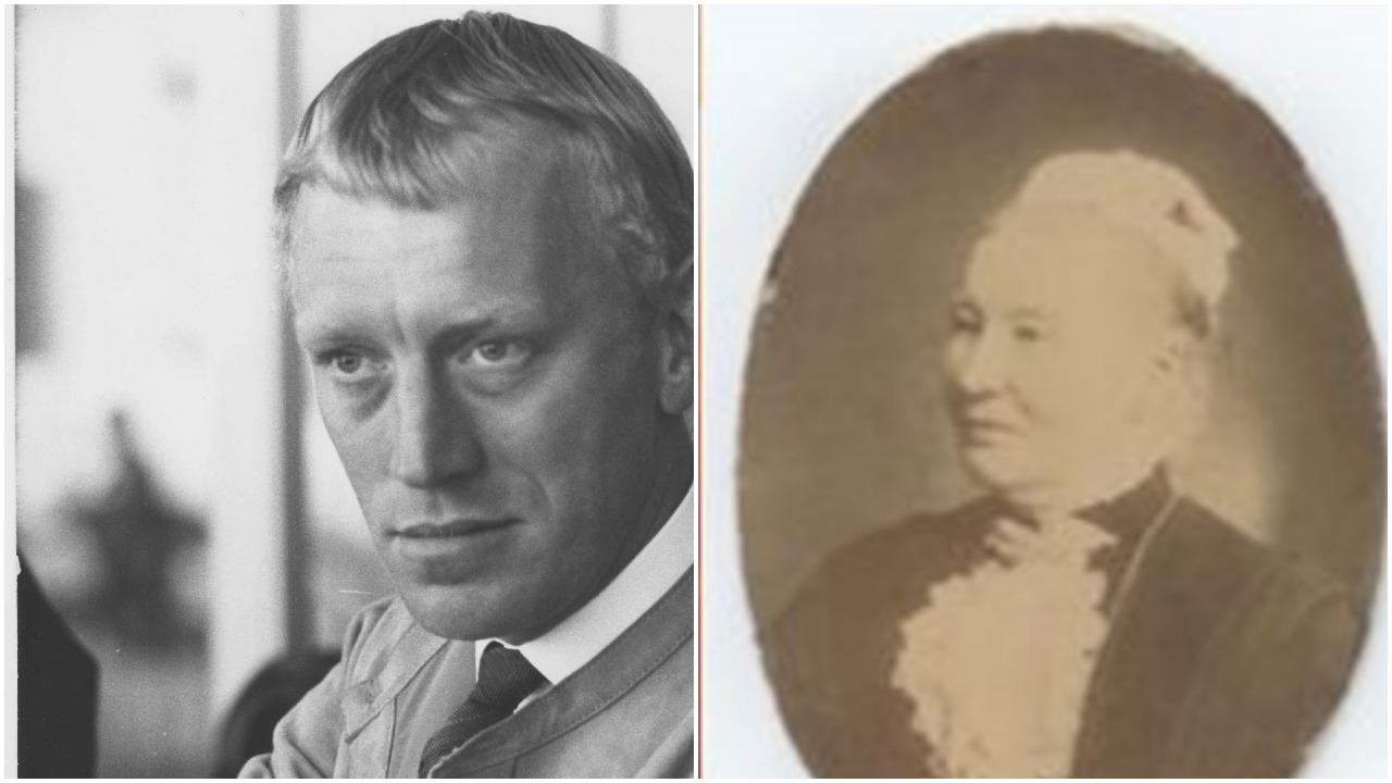 Max von Sydow med mormors mor Elise till höger.