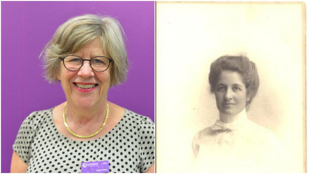 Agnes Wold med mormor